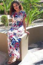 Magical Moments Cream Floral Print Maxi Dress 4