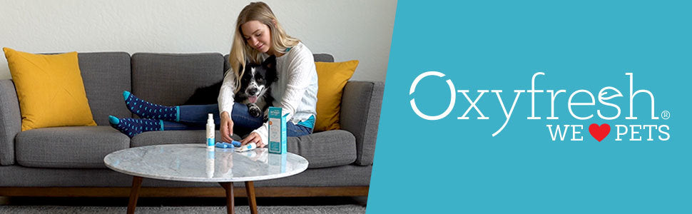 Oxyfresh - Pet Dental Kit - Get rid of smelly dog and cat breath