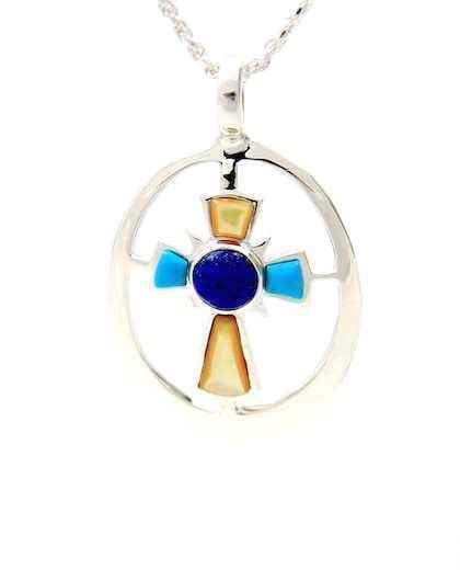 Ben Nighthorse-Cross Of The Morning Star Pendant-Sorrel Sky Gallery-Jewelry
