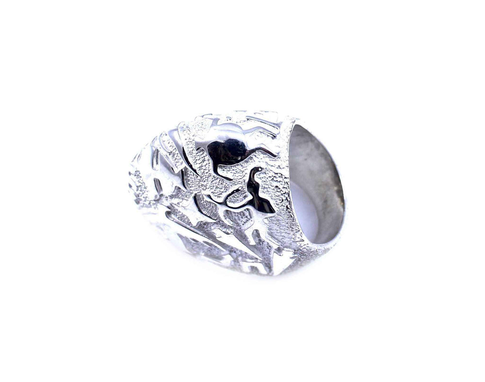Rock Art Oblong Dome Ring