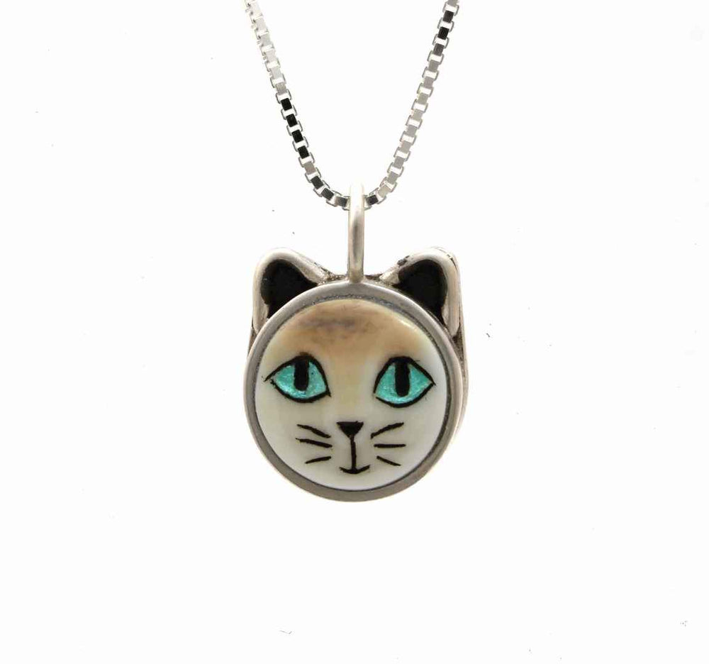Blue Eyed Cat Pendant