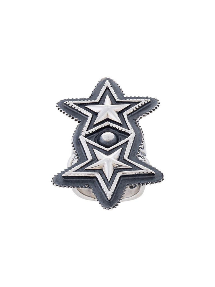 Double Sheriff Star Ring