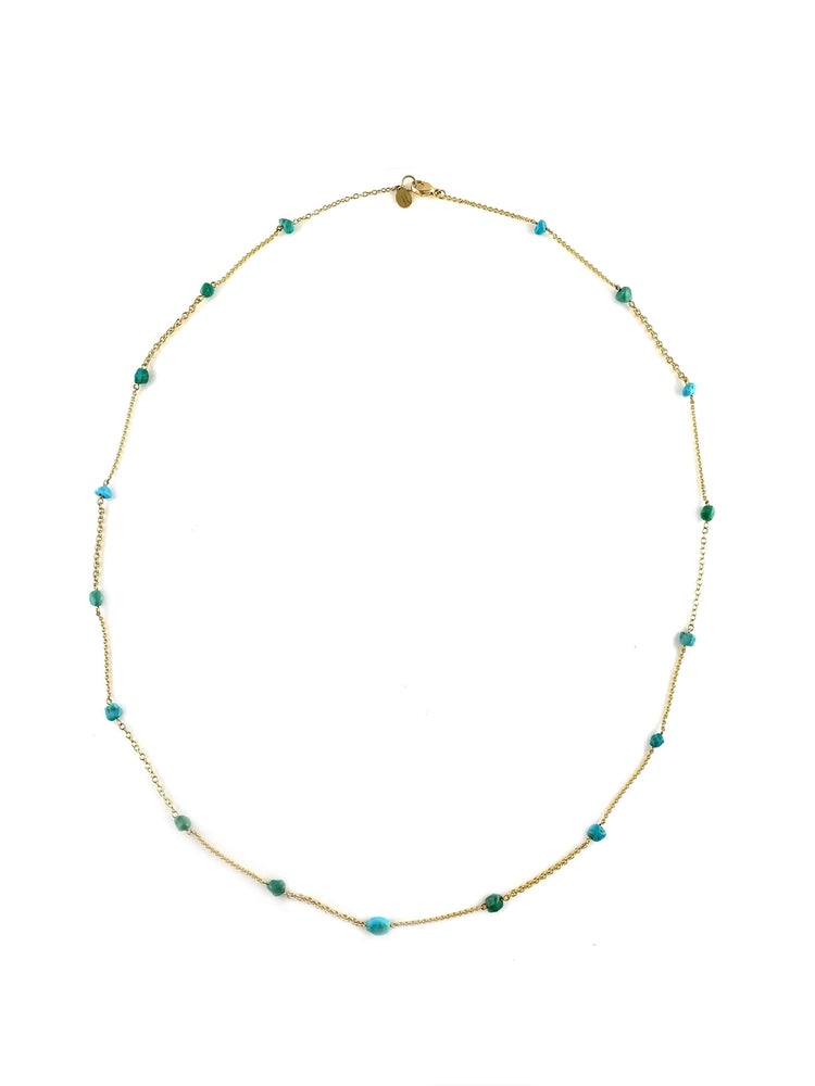 Cerrillos Turquoise Nugget Necklace