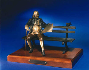 George Lundeen-Sorrel Sky Gallery-Sculpture-Ben Franklin Pewter