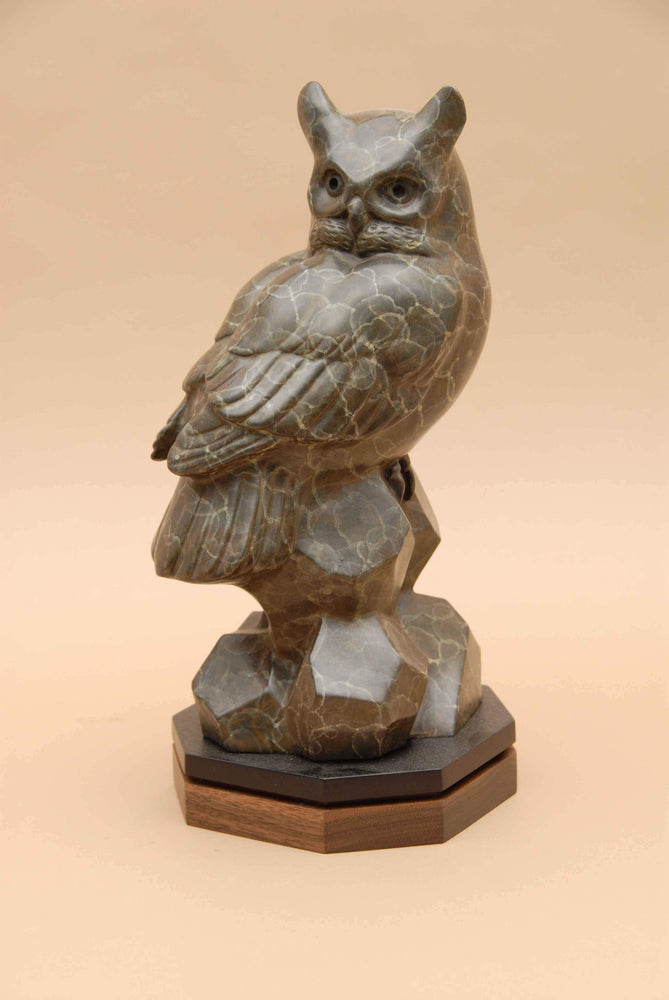 Bronze sculpture of an owl. Gerald Balciar-Sorrel Sky Gallery-Sculpture-Give A Hoot