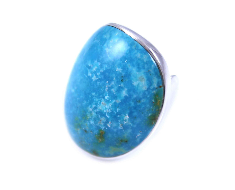 Kingman Turquoise Saddle Ring