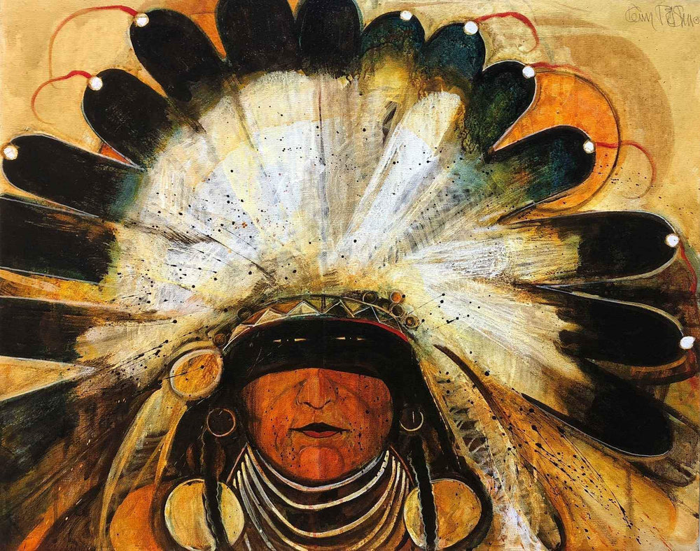 Big Chief With Feather Headdress (Fast Turtle)