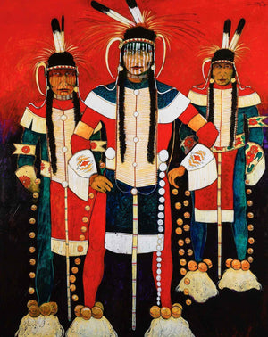 Kevin Red Star-Three Crow Indian Hot Dancers-Painting-Sorrel Sky Gallery