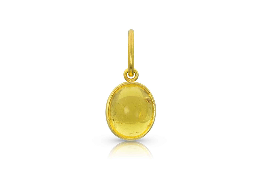 Yellow Beryl Gold Charm
