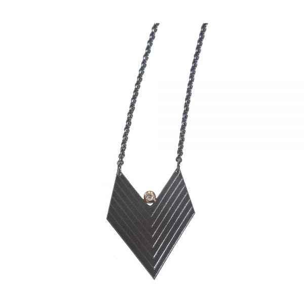 Chevron Diamond Necklace