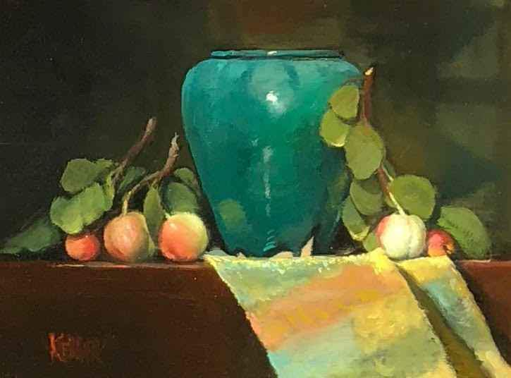 Vase and Apples