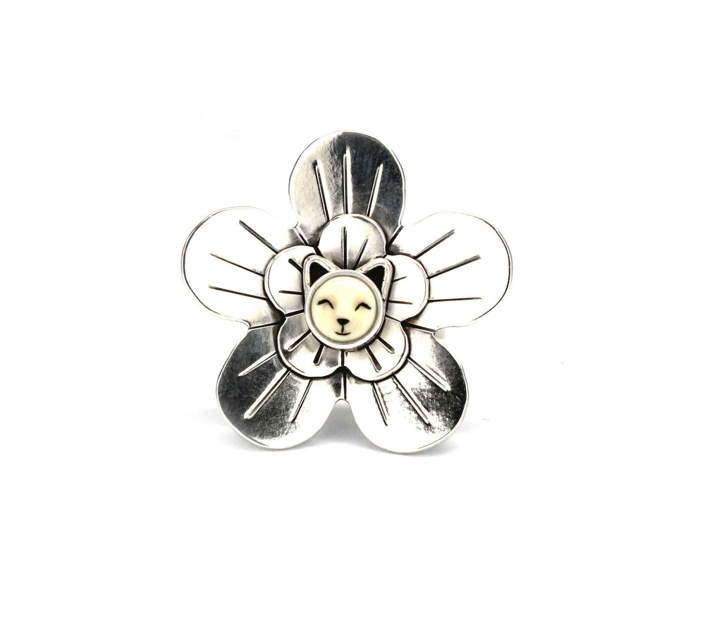 Kitten Wild Flower Ring