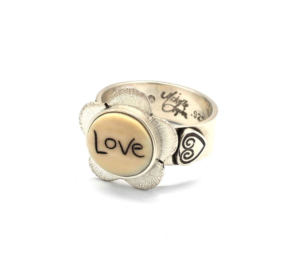 LOVE Flower Ring