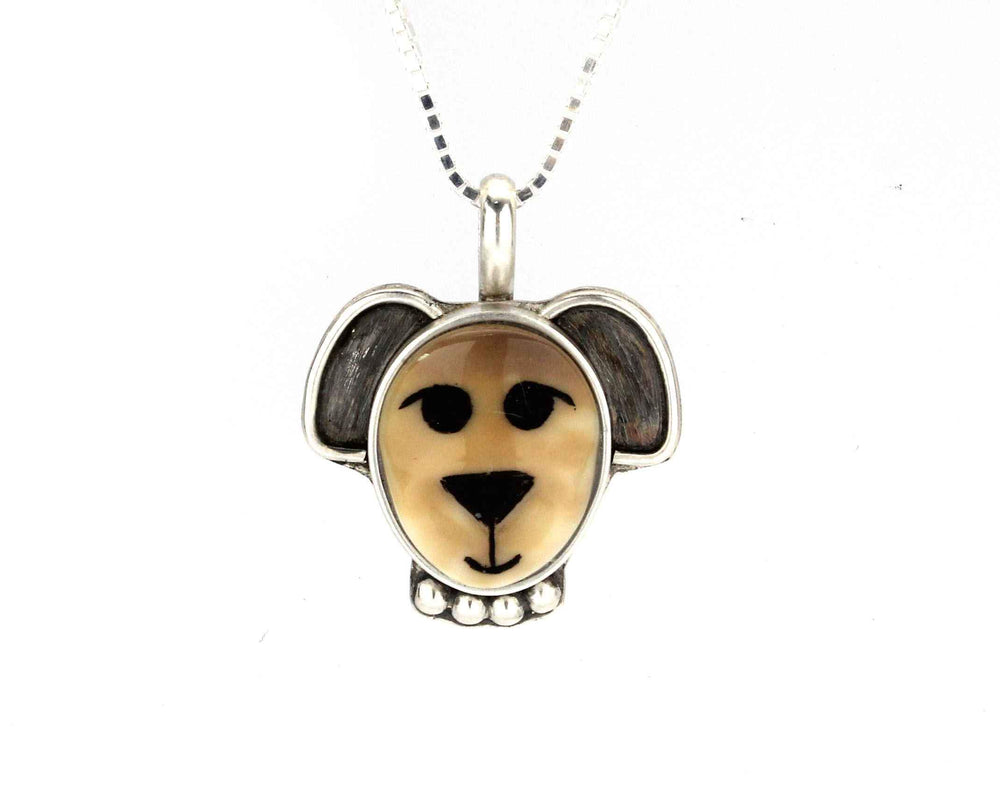 Medium Dog Pendant with Bead Collar