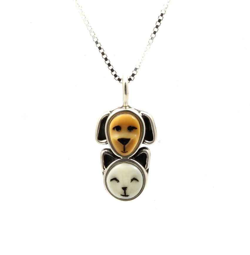Puppy and Kitten Pendant