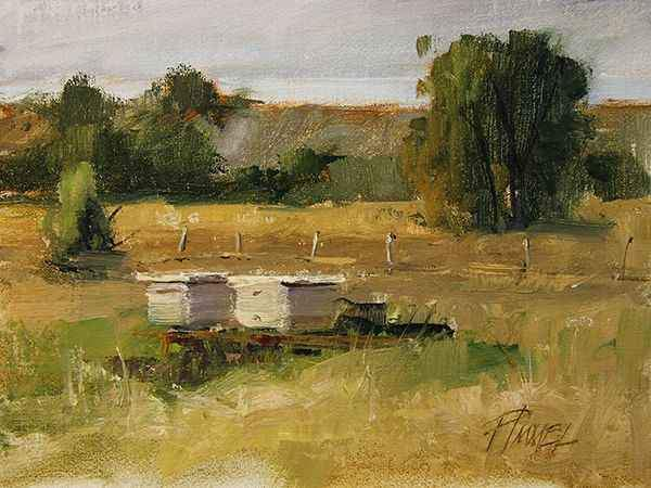 Peggy Immel-Couple of Bee Hives-Sorrel Sky Gallery-Painting