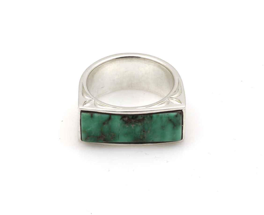 Royston Turquoise Engraved Ring