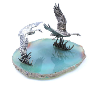 Star Liana York-Canada Goose On Agate-Sorrel Sky Gallery-Sculpture