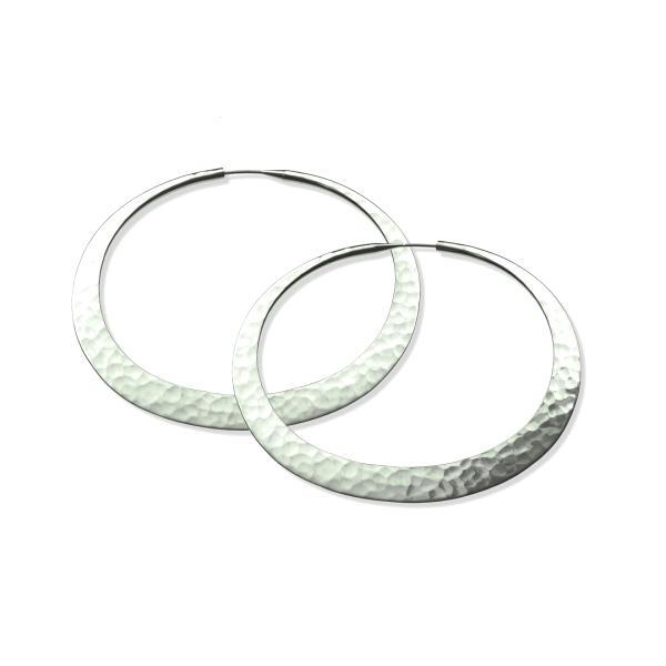 Toby Pomeroy-28mm Eclipse Hoop Earrings-Sorrel Sky Gallery-Jewelry