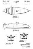 1950 - Boat #2 - S. K. Copper - Patent Art Poster