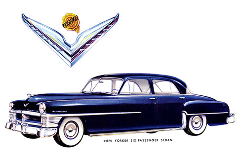 1951 Chrysler New Yorker Six Passenger Sedan - Promotional Advertising Poster