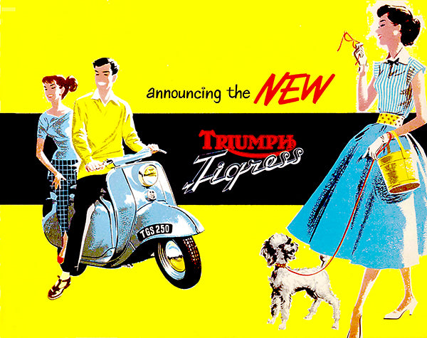 1958 Triumph Tigress - Promotional Advertising Poster