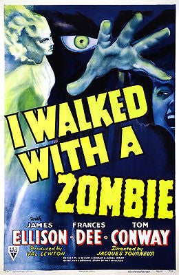 I Walked With A Zombie - 1943 -  Movie Poster