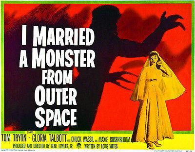 I Married A Monster From Outer Space - 1958 - Movie Poster