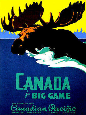 1950's Canada - Canadian Pacific - Travel Poster