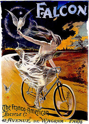 1900's - The Franco-American Bicycle - Promotional Advertising Poster