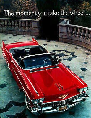 1958 Cadillac The Moment You Take the Wheel - Promotional Advertising Poster