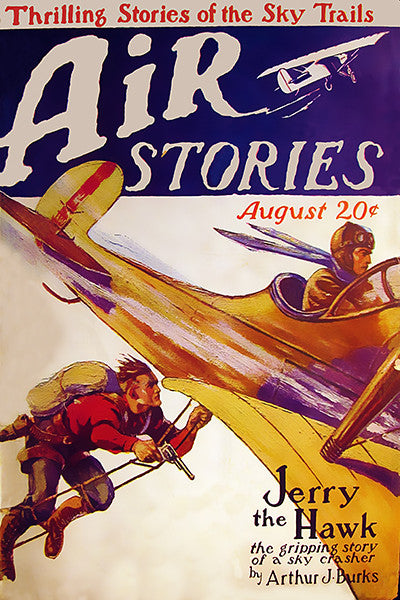 Air Stories - August 1927 - Magazine Cover Poster