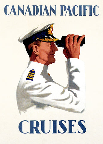 Canadian Pacific - Captain Cruise Ship Great Lakes Binoculars - Travel Poster