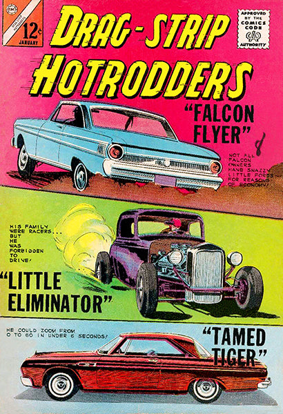 Drag-Strip Hotrodders - #2 January 1965 - Comic Book Cover Poster