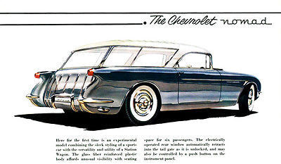 Early 1950's Chevrolet Nomad Concept - Promotional Advertising Poster