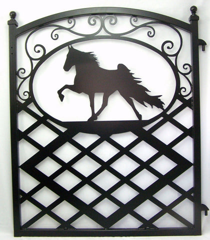 Tennessee Walker Show Horse Metal Art Gate Iron Garden Fence Image 1