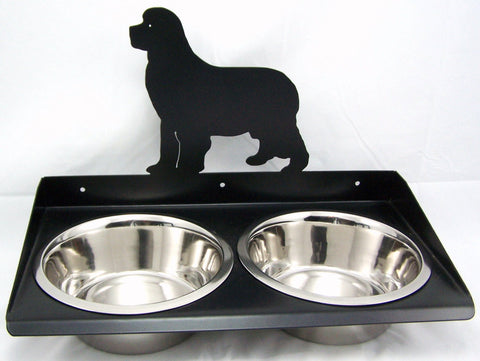 Dog Feeder Wall Mount for Newfoundland Image 1