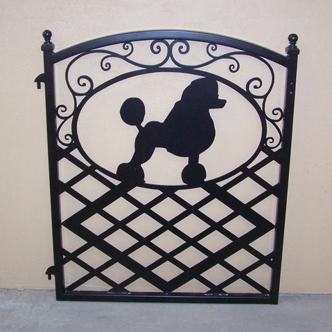 Fence Gate Ornamental Iron Poodle Silhouette Image 1