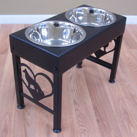 Elevated Dog Feeder Raised Bowls for German Shepherd Image 1
