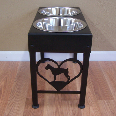 Boxer floor stand feeder black
