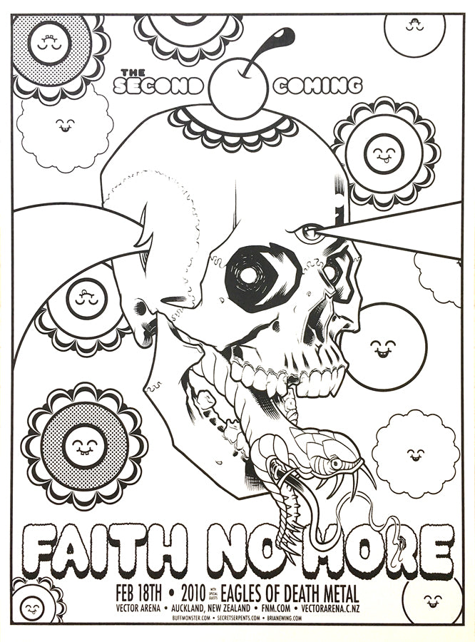 FAITH NO MORE - Auckland 2010 (blackline) by Brian Ewing & Buff Monster