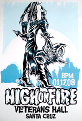 HIGH ON FIRE - Santa Cruz 2008 by Mike Murphy
