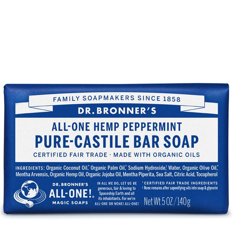 Pure Castile Bar Soap - 140g - Dr. Bronner's - Health & Body Nutrition