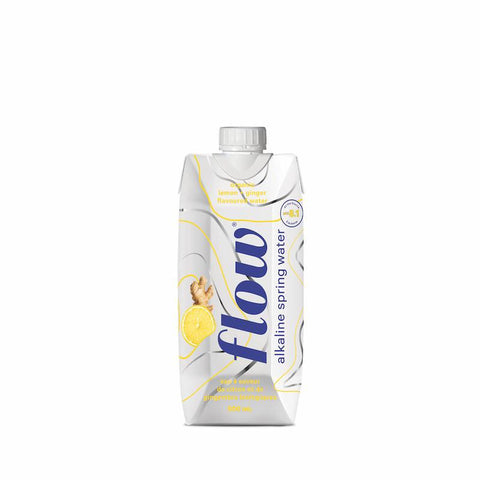 Alkaline Spring Water - Organic Lemon-Ginger Flavour - 500ml - Flow - Health & Body Nutrition