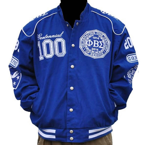 Phi Beta Sigma Twill Racing Jacket