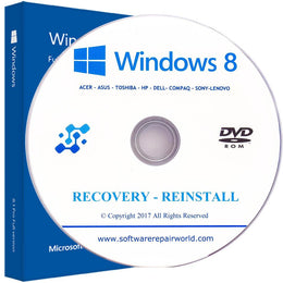 Windows 8.1 Home and Professional Reinstall Recovery Disc Disk DVD