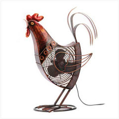 Rooster Decorative Fan