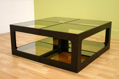 Baxton Studio Clara Glass Square Side Table