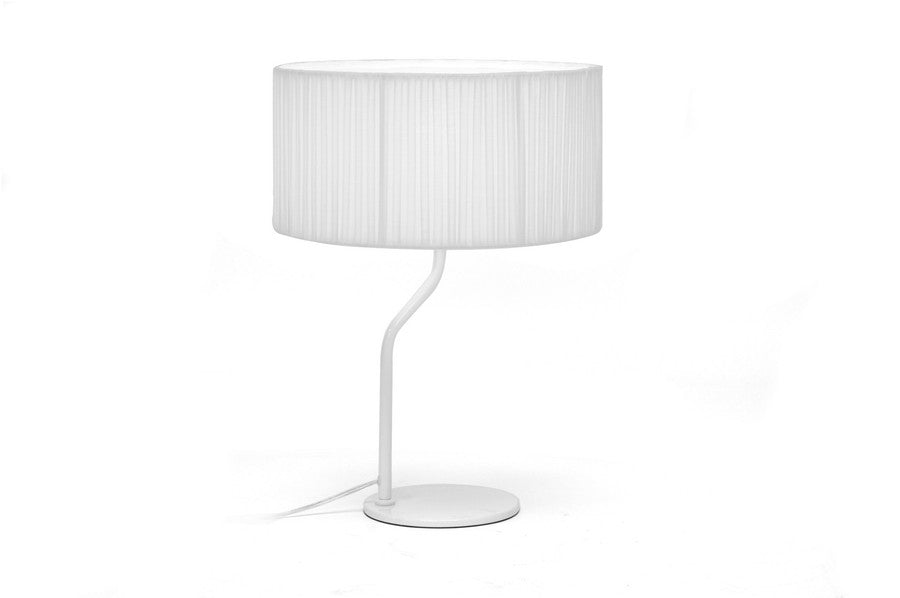Baxton Studio Skewa White Modern Table Lamp