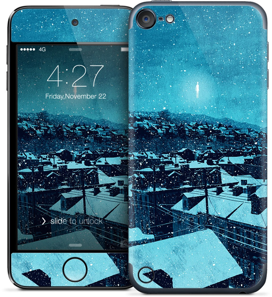 """we wait out the storm, and i am floored"" iPod Skin"